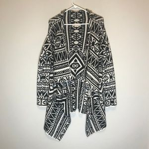 Flying Tomato Tribal Open Cardigan Size M